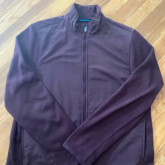 Perry Ellis Fleece zip jacket maroon north face